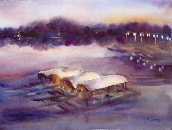 Painting - Evening Boatride by Betty M M Wong