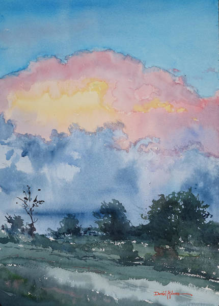 Painting -  Da195 Evening Cloudhead By Daniel Adams  by Daniel Adams