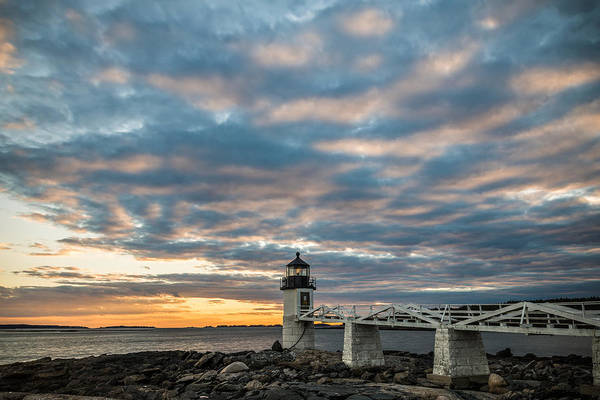 Marshall Point Lighthouse Photograph - Evening Delight by Kristopher Schoenleber