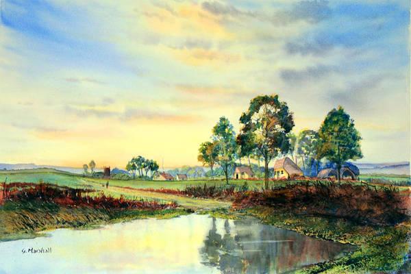 Painting - Evening Falls by Glenn Marshall