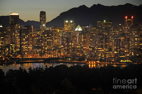 Photograph - Evening Falls Over Vancouver by Brenda Kean