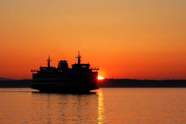 Photograph - Evening Ferry by Alexander Fedin