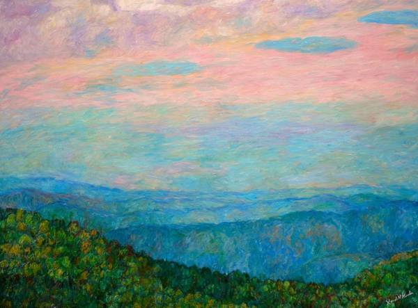 Painting - Evening Glow At Rock Castle Gorge  by Kendall Kessler