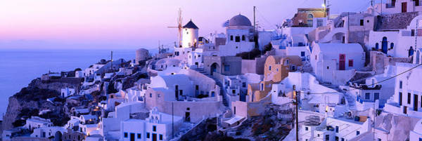Leisurely Photograph - Evening, Ia, Santorini, Greece by Panoramic Images