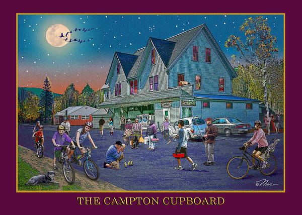 Digital Art - Evening In Campton Village by Nancy Griswold