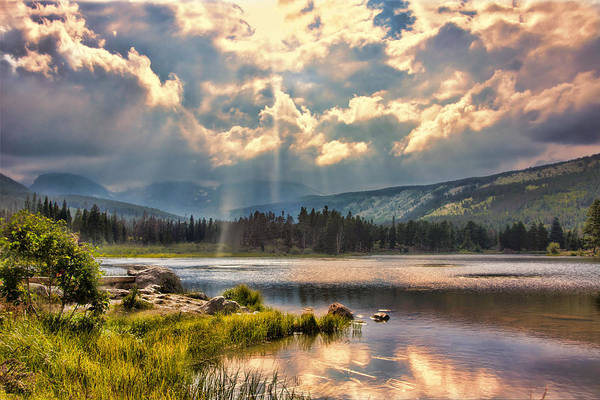Evening In The Rocky Mountain National Park Art Print