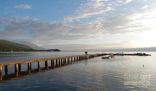 Photograph - Evening - Lake Ohrid - Macedonia by Phil Banks