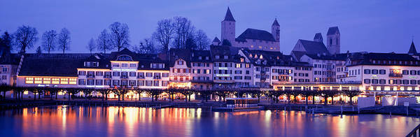 Leisurely Photograph - Evening, Lake Zurich, Rapperswil by Panoramic Images