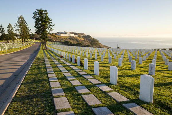 Photograph - Evening Light At Fort Rosecrans National Cemetery by Priya Ghose