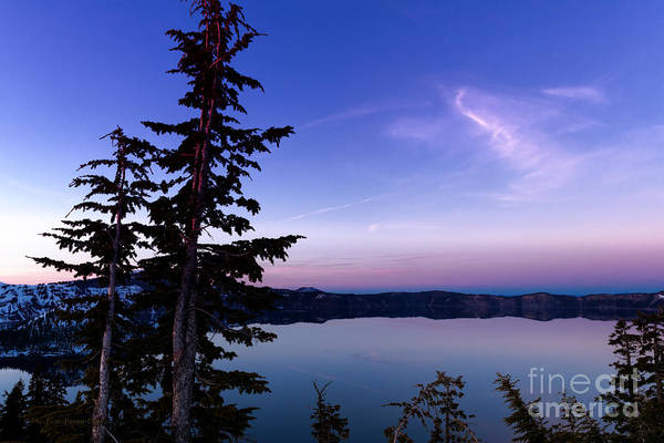 Photograph - Evening Light - Crater Lake by Beve Brown-Clark Photography