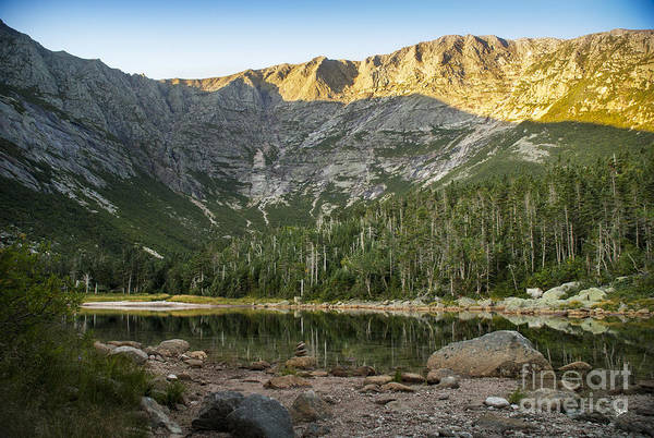 Photograph - Evening Light On Mt Katahdin  by Alana Ranney