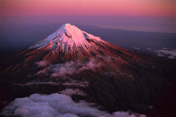 Photograph - Evening Light On Mt Taranaki by Rob Brown