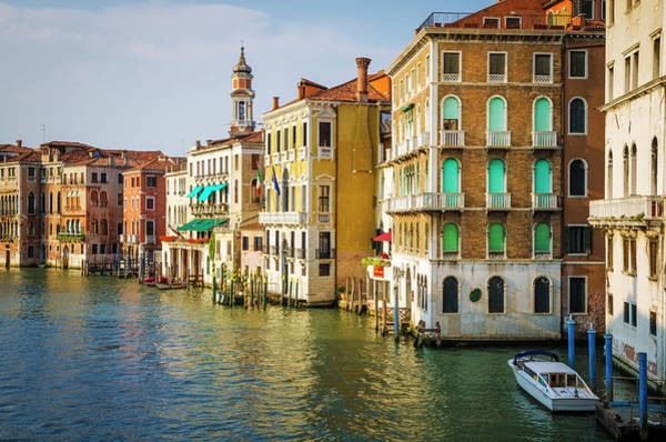 Balcony Photograph - Evening Light On The Grand Canal by Russ Bishop