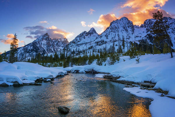 Brook Photograph - Evening Light Over The Tetons by Russ Bishop