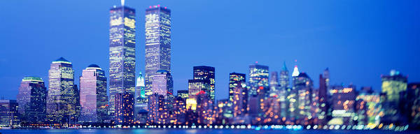 Battery Park Wall Art - Photograph - Evening, Lower Manhattan, Nyc, New York by Panoramic Images