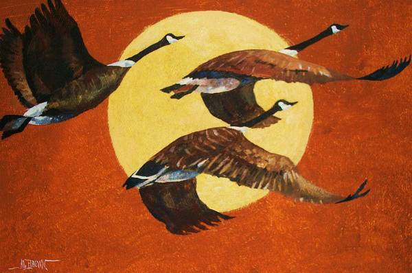 Wall Art - Painting - Soaring Migration by Al Brown