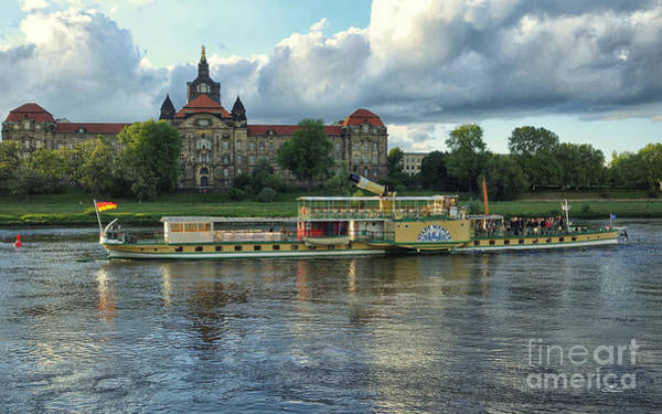 Photograph - Evening Mood On The Elbe by Jutta Maria Pusl