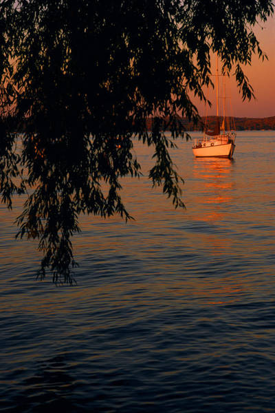 Evening Mooring - Lake Geneva Wisconsin Art Print