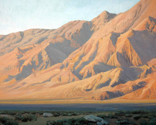Alabama Hills Painting - Evening Near Lone Pine by Armand Cabrera
