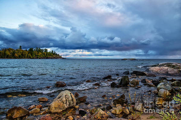 Photograph - Evening On Lake Superior - V2 by Les Palenik