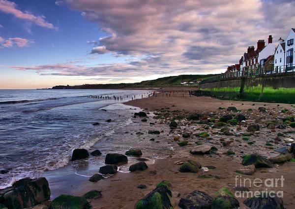 Evening On Sandsend Beach Yorkshire Art Print