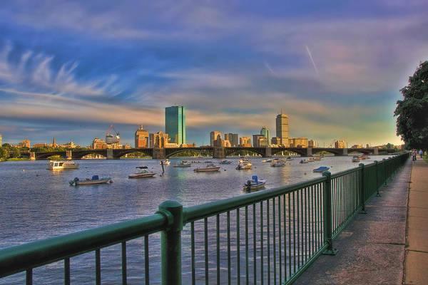 Photograph - Evening On The Charles - Boston Skyline by Joann Vitali
