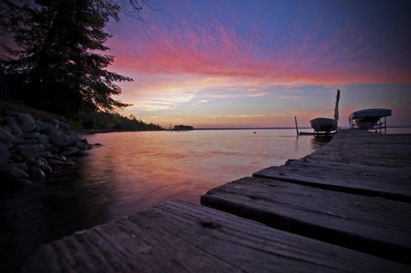 Photograph - Evening On The Dock by Owen Weber