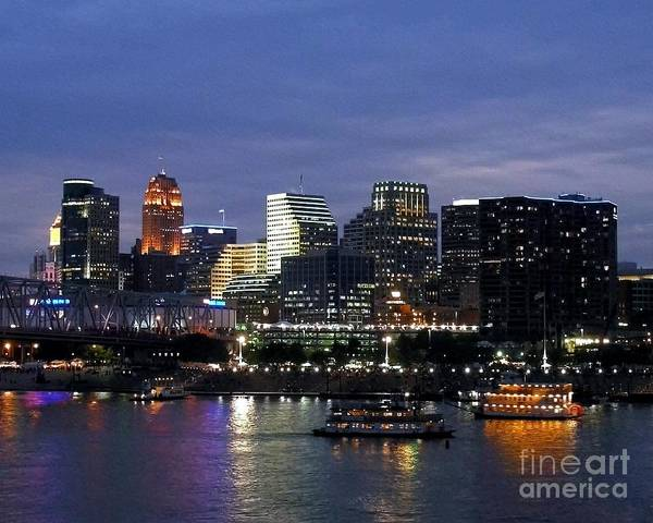 Ohio River Photograph - Evening On The River by Mel Steinhauer