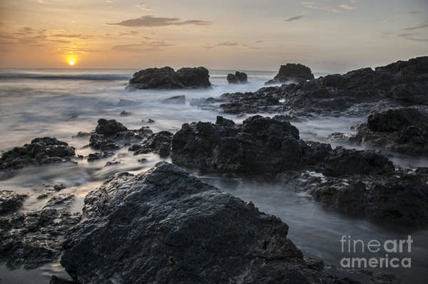 Photograph - Evening On The Rocky Shore by Owen Weber