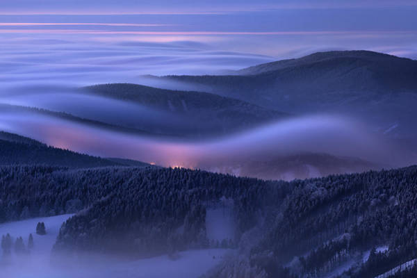 Fog Photograph - Evening Over Inversions by Daniel ?e?icha