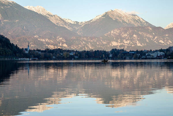 Wall Art - Photograph - Evening Over Lake Bled by Ian Middleton