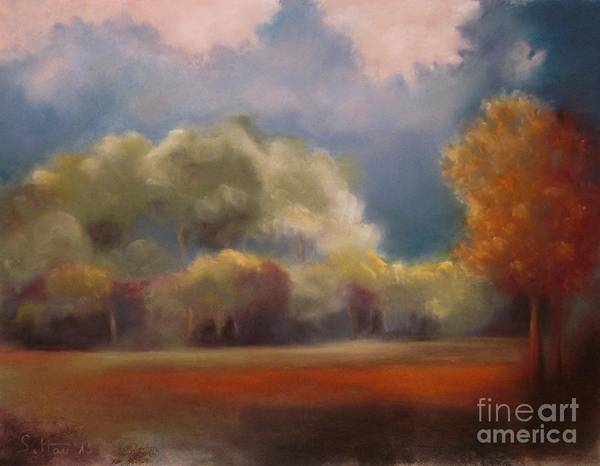 Wall Art - Pastel - Evening Over The Glade by Sabina Haas