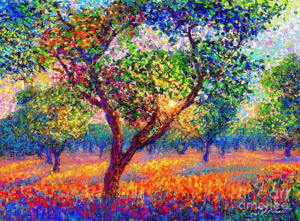 Apple Orchard Painting - Evening Poppies by Jane Small