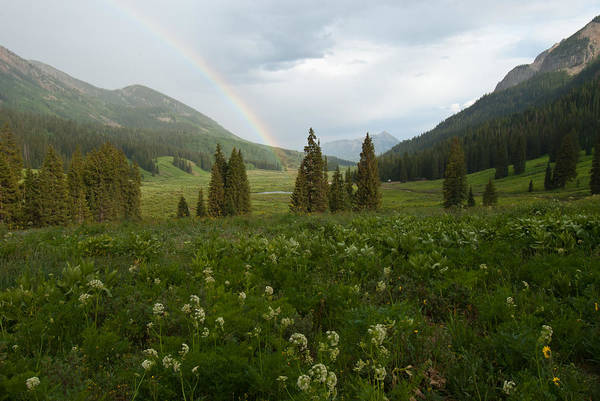 Photograph - Evening Rainbow In The Rocky Mountains by Cascade Colors