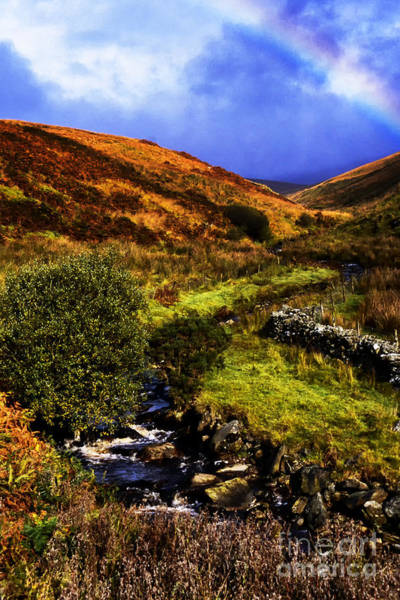 Gaelic Photograph - Evening Rainbow Sperrin Mountains by Thomas R Fletcher