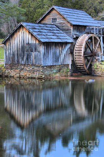Photograph - Evening Reflections At Mabry Mill by Adam Jewell