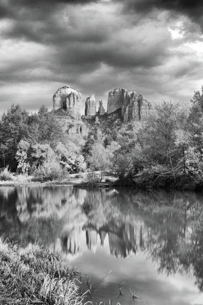 Photograph - Evening Reflections - Black And White by Harold Rau
