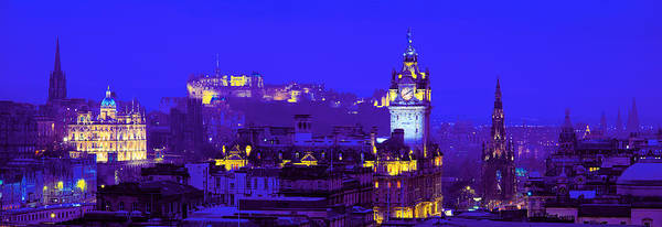 Fortification Photograph - Evening, Royal Castle, Edinburgh by Panoramic Images