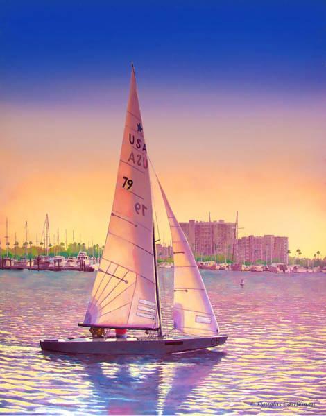 Painting - Evening Sail by Douglas Castleman