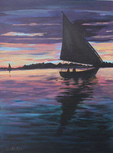 Painting - Evening Sail by Jane Croteau