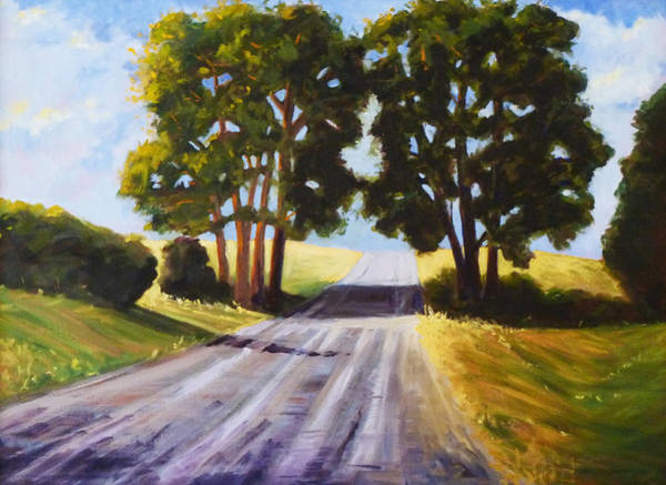 Wall Art - Painting - Evening Shadows by Nancy Merkle