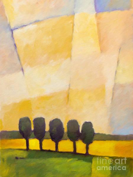Painting - Evening Sky by Lutz Baar