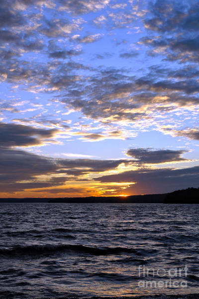 Poconos Wall Art - Photograph - Evening Sky Over Lake by Olivier Le Queinec