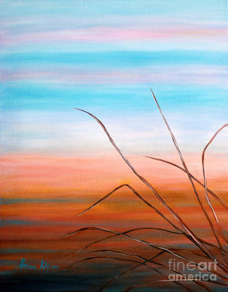 Painting - Evening Sky. Soul Collection by Oksana Semenchenko