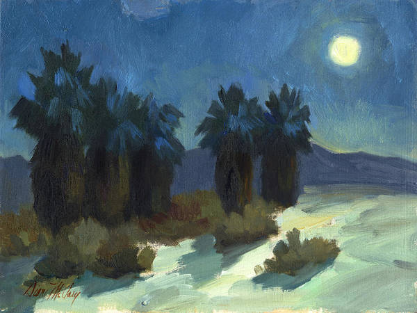 Desert Scene Painting - Evening Solitude by Diane McClary