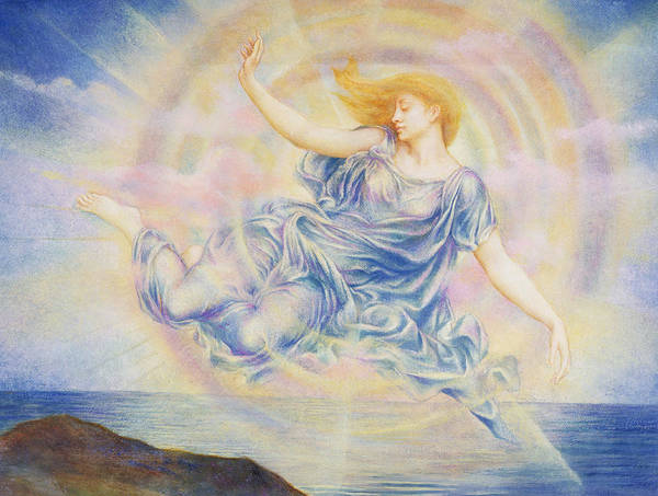 Painting - Evening Star Over The Sea by Evelyn De Morgan