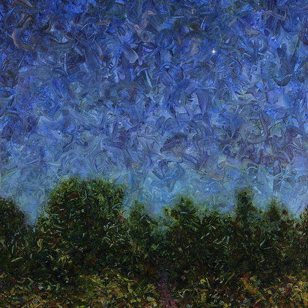 Wall Art - Painting - Evening Star - Square by James W Johnson
