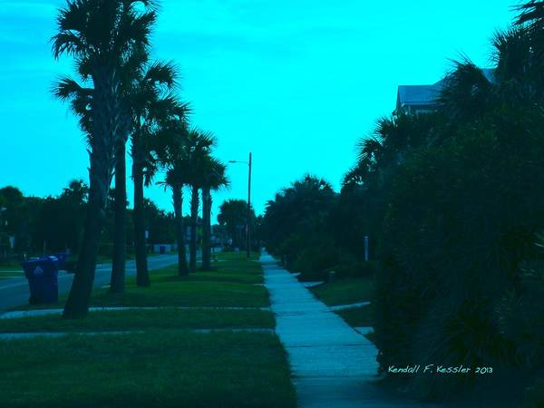 Photograph - Evening Stroll At Isle Of Palms by Kendall Kessler