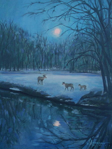 Painting - Evening Stroll by Sherri Anderson