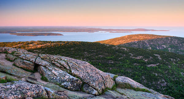 Mount Desert Island Photograph - Evening View From Cadillac Mountain by Panoramic Images